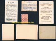 1920s -40s boxing instant collection boxers 7 early  trade cards as SEEN IN MY BOOK!